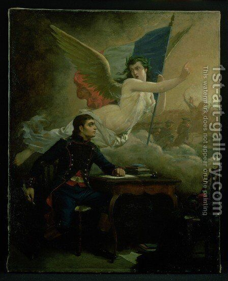 Claude Joseph Rouget de Lisle 1760-1836 composing the Marseillaise by Bartolomeo Pinelli - Reproduction Oil Painting
