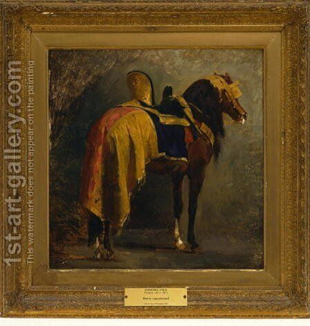 Horse Caparisoned, c.1860 by Isidore Alexandre Augustin Pils - Reproduction Oil Painting