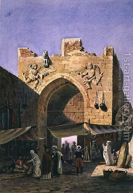 The Gate of Konya, Asia Minor by Charles Pierron - Reproduction Oil Painting