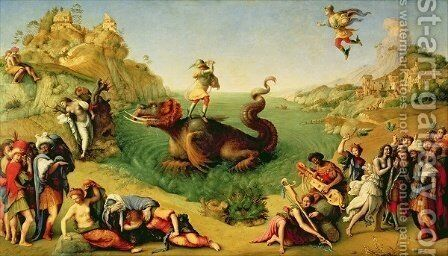 Perseus Rescuing Andromeda by Cosimo Piero di - Reproduction Oil Painting