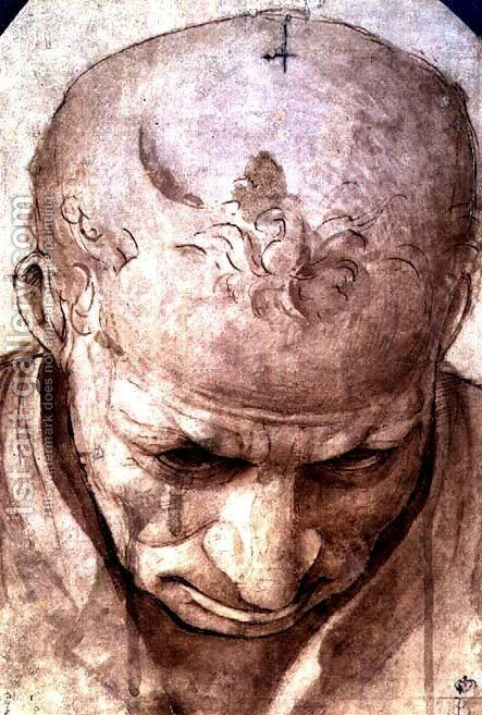 Head of an Elderly Man by Cosimo Piero di - Reproduction Oil Painting