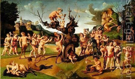 The Discovery of Honey by Bacchus, c.1499 by Cosimo Piero di - Reproduction Oil Painting