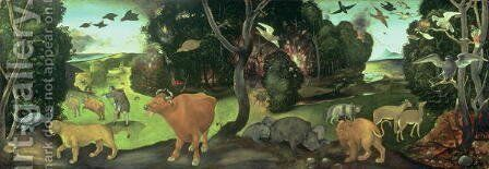 The Forest Fire by Cosimo Piero di - Reproduction Oil Painting