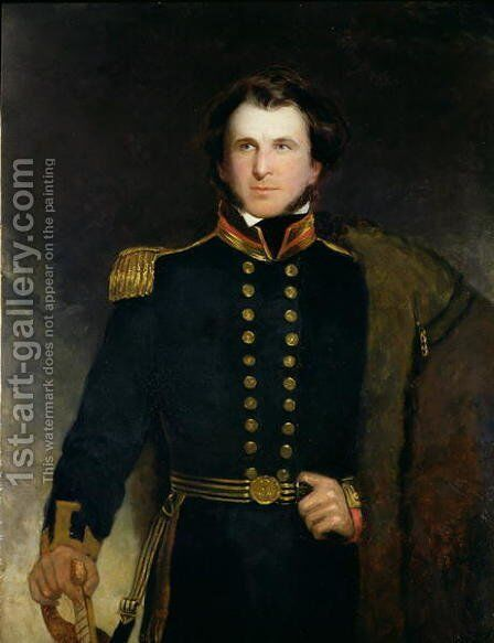 Sir James Clark Ross 1800-62 by Henry William Pickersgill - Reproduction Oil Painting
