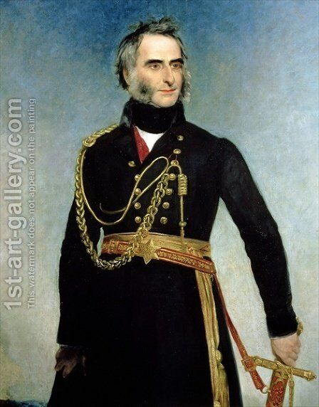 Portrait of Sir Charles James Napier 1782-1853 by Henry William Pickersgill - Reproduction Oil Painting