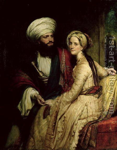 James Silk Buckingham and his Wife by Henry William Pickersgill - Reproduction Oil Painting