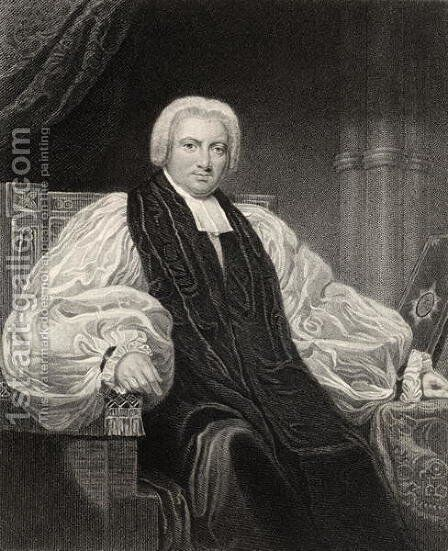 Bishop Henry Ryder, engraved by T. Woolnoth, from The National Portrait Gallery, volume I, published c.1820 by (after) Pickersgill, Henry William - Reproduction Oil Painting
