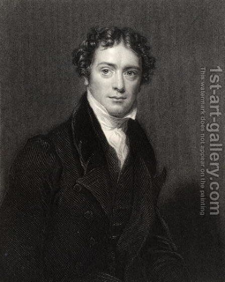 Michael Faraday, engraved by J. Cochran, from National Portrait Gallery, volume V, published c.1835 by (after) Pickersgill, Henry William - Reproduction Oil Painting