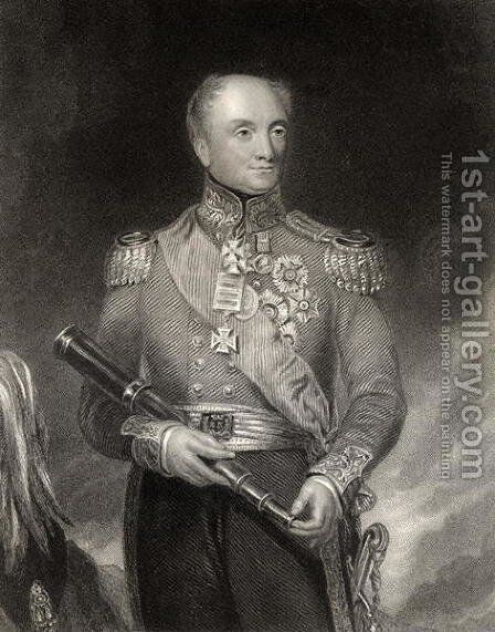 Sir Rowland Hill, engraved by W.H. Mote, from The National Portrait Gallery, Volume IV, published c.1820 by (after) Pickersgill, Henry William - Reproduction Oil Painting