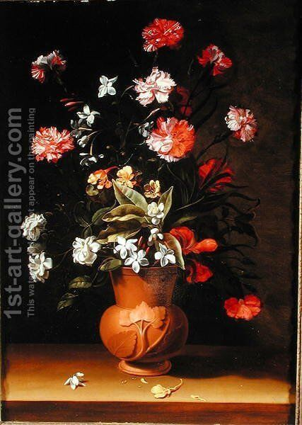 Still life with flowers by Jean Picart - Reproduction Oil Painting