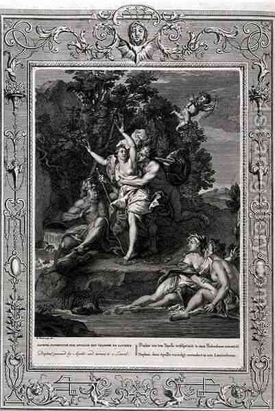 Daphne Pursued by Apollo and Turned into a Laurel Tree, 1731 by Bernard Picart - Reproduction Oil Painting