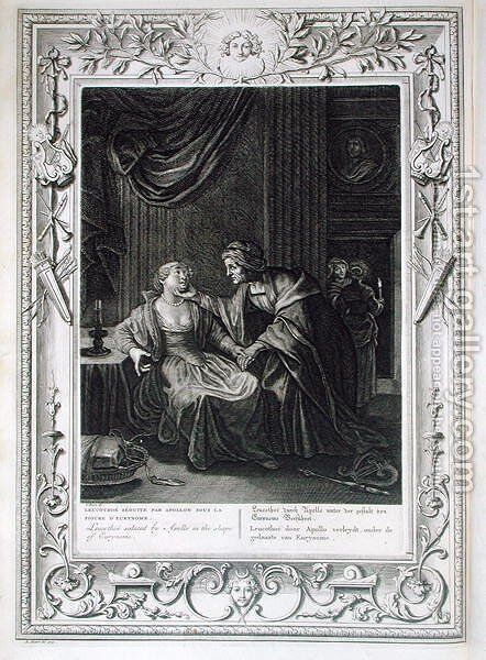 Leucothoe Seduced by Apollo in the Shape of Eurynome, 1731 by Bernard Picart - Reproduction Oil Painting