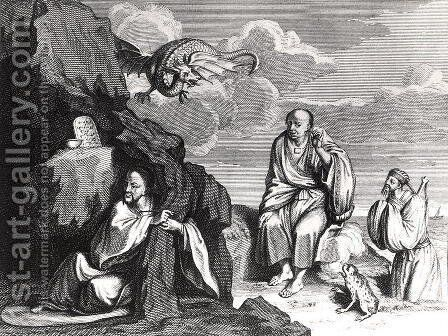Chinese Magicians and Sorcerers, illustration from Ceremonies et Coutumes Religieuses des Peuples Idolatres, published in Amsterdam, 1798 by (after) Picart, Bernard - Reproduction Oil Painting
