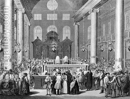 The Jewish Feast of Purim, or Lots in 1721, engraved by W. Forrest, from World Religion, published by A. Fullarton and Co. by (after) Picart - Reproduction Oil Painting