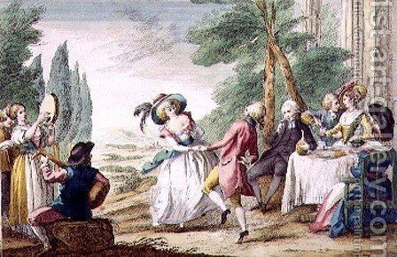 Florentine Games, the Dance by Guiseppe Piattoli - Reproduction Oil Painting