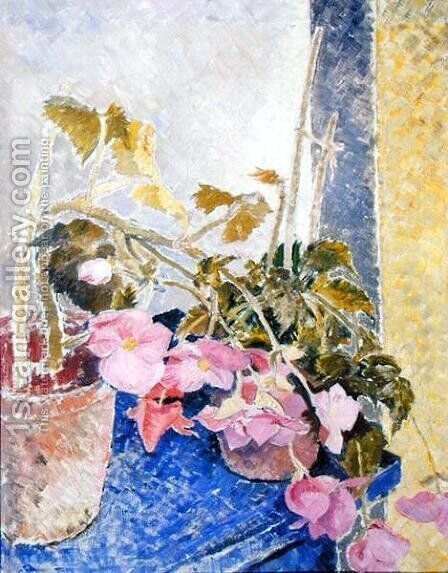 Flowers in a Vase, 1934 by Glyn Warren Philpot - Reproduction Oil Painting