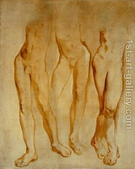 Three Studies of a Male Nude by Glyn Warren Philpot - Reproduction Oil Painting