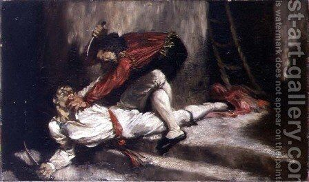 The Death Blow, 1910 by Glyn Warren Philpot - Reproduction Oil Painting
