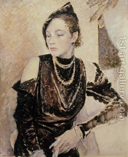 Miss Gwendolen Cleaver, 1933 by Glyn Warren Philpot - Reproduction Oil Painting