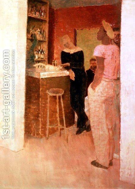 The Bistrot Harve by Glyn Warren Philpot - Reproduction Oil Painting