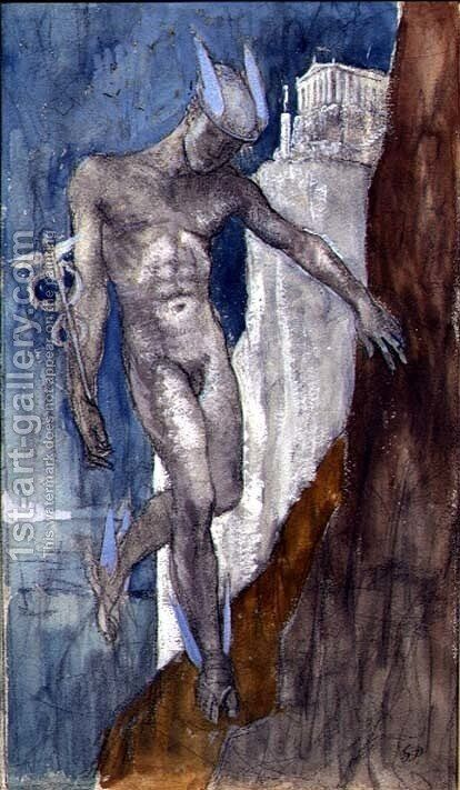 Hermes Descending by Glyn Warren Philpot - Reproduction Oil Painting