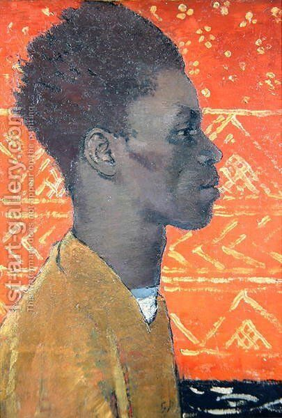 Negro in Profile Portrait of Henry Thomas 1934-35 by Glyn Warren Philpot - Reproduction Oil Painting