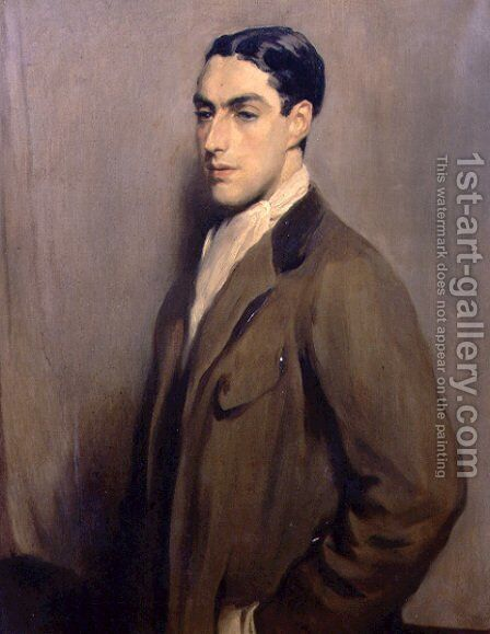 Portrait of Frank Meyer, c.1910 by Glyn Warren Philpot - Reproduction Oil Painting