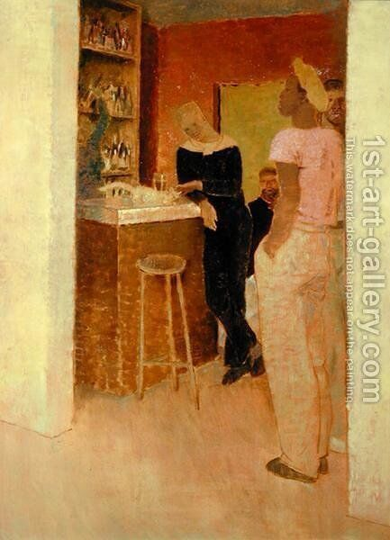 Bistro Havre, 1937 by Glyn Warren Philpot - Reproduction Oil Painting