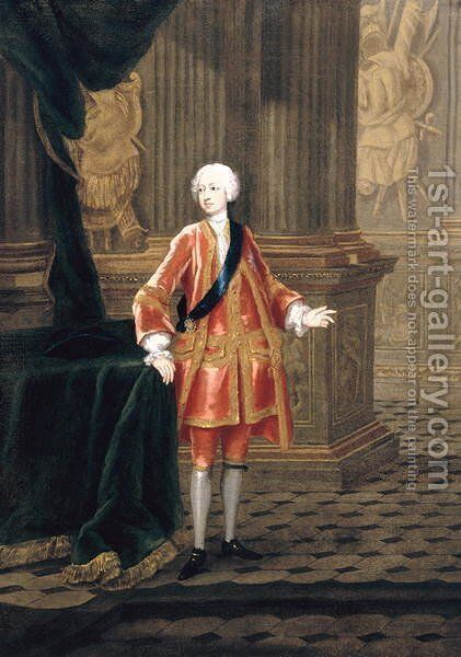 Portrait of Frederick Louis, Prince of Wales 1707-51, c.1732 by Charles Phillips - Reproduction Oil Painting