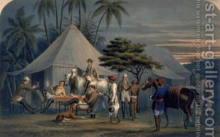 The Early Repast, 1851 by Alexander William Phillips - Reproduction Oil Painting