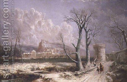 View of Huys by J.R. Pettit - Reproduction Oil Painting