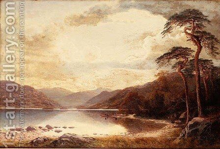 View on the Lower Lake, Killarney by Charles Pettit - Reproduction Oil Painting
