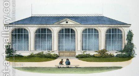 The Orangerie at Bellombre Bourgogne illustration from Habitations Champetres published Paris, c.1895 by (after) Petit, Victor Jean-Baptiste - Reproduction Oil Painting