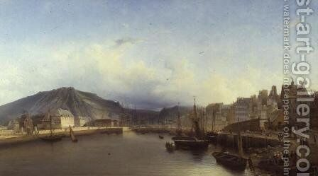 The Bridge at Cherbourg by John Louis Petit - Reproduction Oil Painting