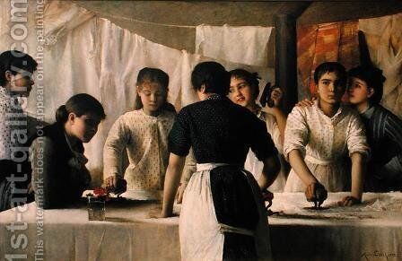 Laundresses, 1882 by Marie, Mrs Dujardin-Beaumetz Petiet - Reproduction Oil Painting