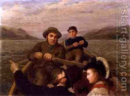Journey By Rowing Boat, 1878 by Horace Petherick - Reproduction Oil Painting