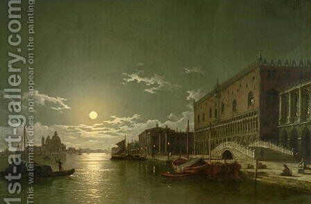 Venice by Moonlight by Henry Pether - Reproduction Oil Painting