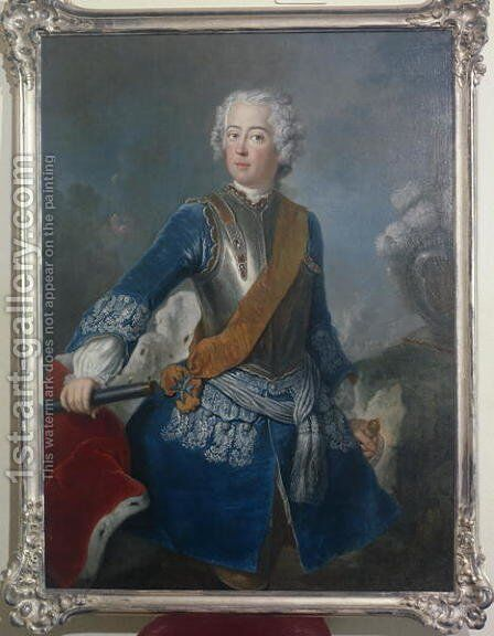 The Crown Prince Frederick II, c.1736 by Antoine Pesne - Reproduction Oil Painting