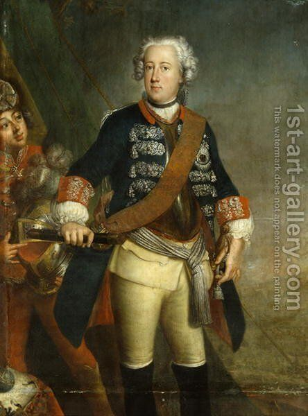 Frederick II as King by Antoine Pesne - Reproduction Oil Painting