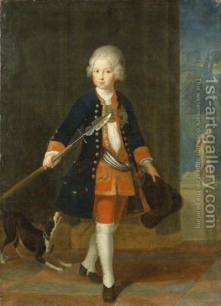 The Crown Prince Frederick II in his Corps de Cadets by Antoine Pesne - Reproduction Oil Painting