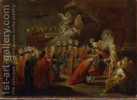 Founding of the Order of the Black Eagle by Antoine Pesne - Reproduction Oil Painting