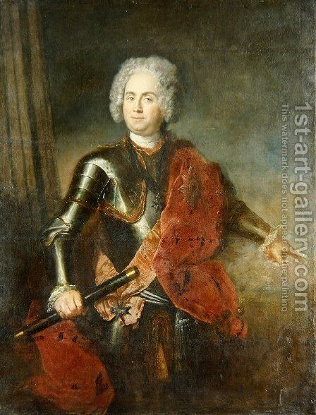 Graf von Schwerin by Antoine Pesne - Reproduction Oil Painting