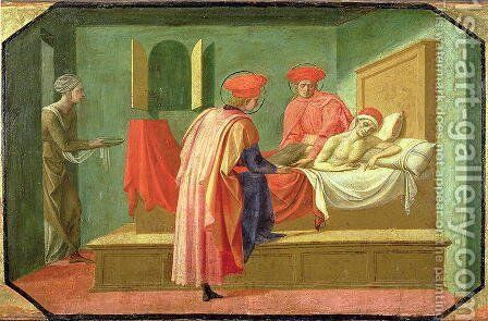 SS. Cosmas and Damian Healing the Sick by Francesco Pesellino - Reproduction Oil Painting