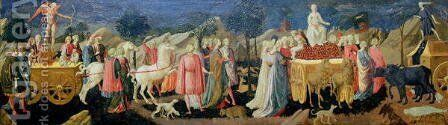 The Triumphs of Love, Chastity and Death, c.1448 by Francesco Pesellino - Reproduction Oil Painting