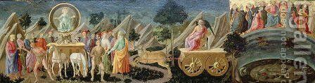 The Triumphs of Fame, Time and Eternity, c.1448 by Francesco Pesellino - Reproduction Oil Painting