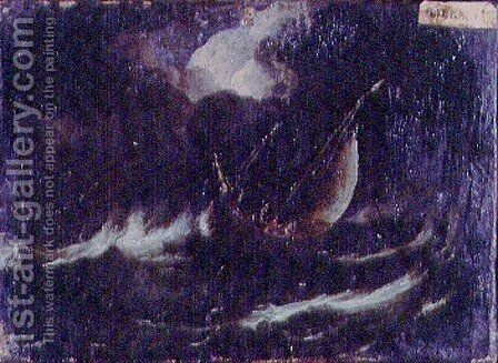 Storm at Sea by Antonio Francesco Peruzzini - Reproduction Oil Painting