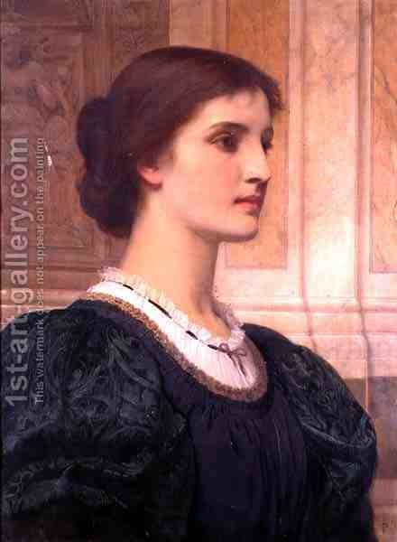 Portrait of Kate Dickens, wife of the artist by Charles E. Perugini - Reproduction Oil Painting