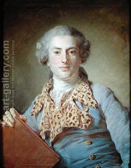 Portrait of Jean-Georges Noverre 1727-1810 by Jean-Baptiste Perroneau - Reproduction Oil Painting