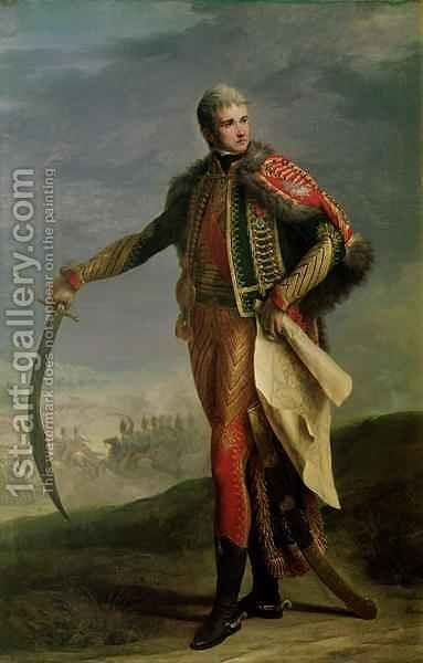 Portrait of Jean Lannes 1769-1809 Duke of Montebello, 1805-10 by Jean Charles Nicaise Perrin - Reproduction Oil Painting