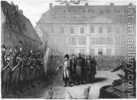 Napoleon 1769-1821 visiting the Ecole Polytechnique on 25th April 1815 by Melchior Peronard - Reproduction Oil Painting